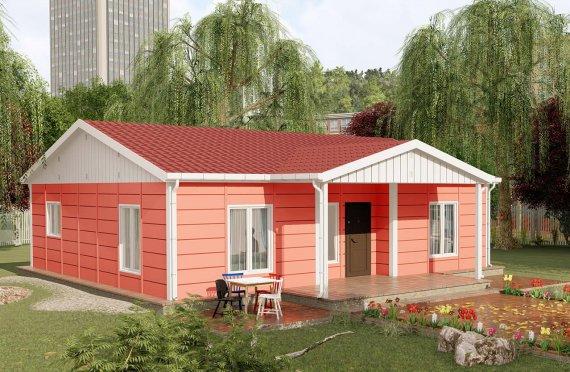 100 m2 Prefabricated House Model