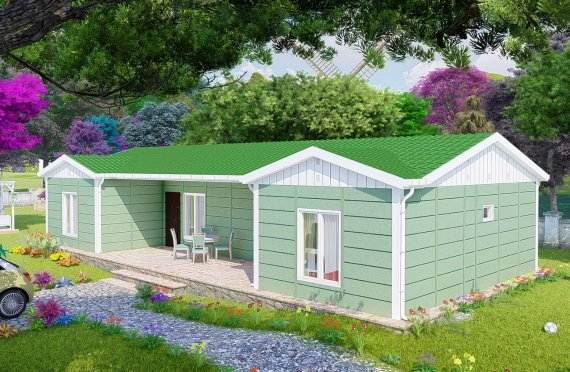 102 m2 Prefabricated House Model