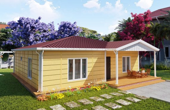 103 m2 Prefabricated House Model