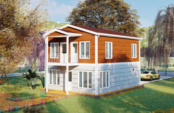 126 m2 Duplex Prefabricated House