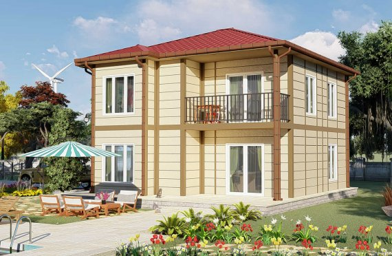 138 m2 Duplex Prefabricated House