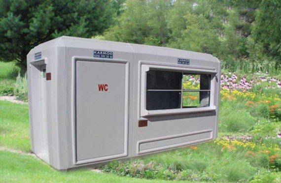 150x390 Portable Toilet & Security Cabin