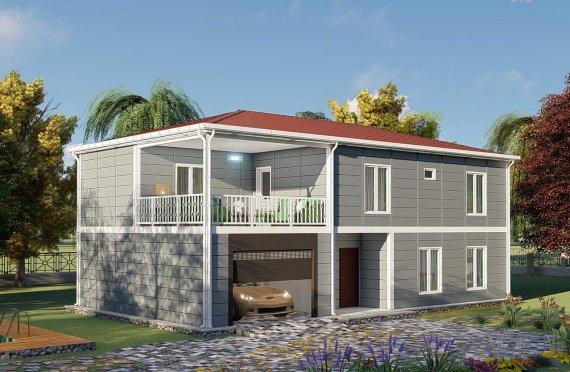 206 m2 Duplex Prefabricated House