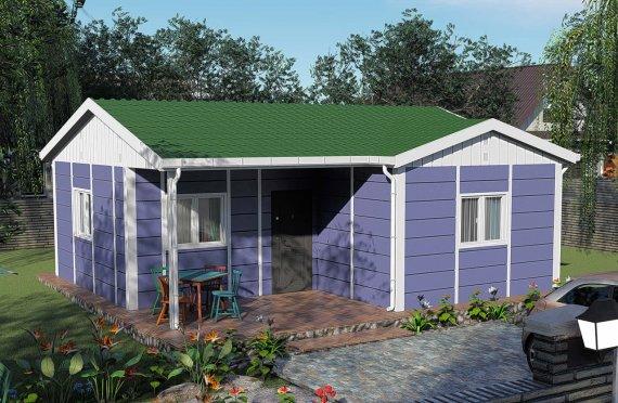 51 m2 Prefabricated House Model