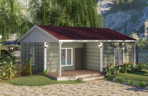 64 m2 Prefabricated House Model
