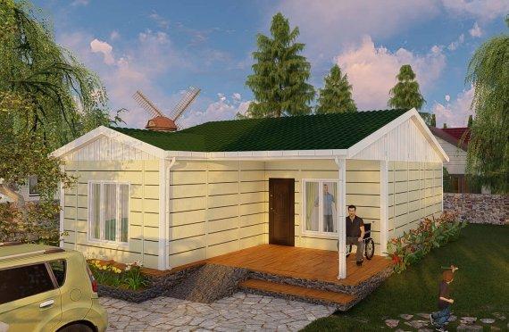 73 m2 Prefabricated House Model