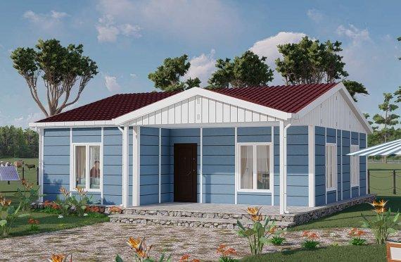 82 m2 Prefabricated House Model