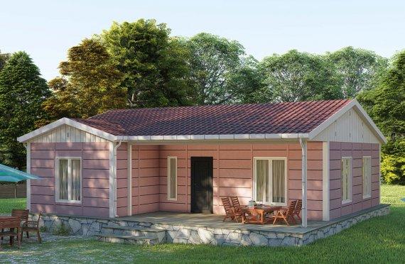 87 m2 Prefabricated House Model