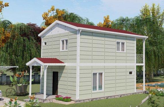 91 m2 Duplex Prefabricated House