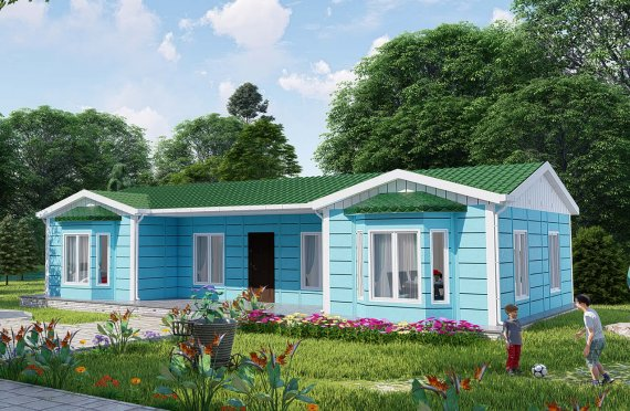 97 m2 Prefabricated House Model