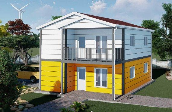 137 m2 Duplex Prefabricated House