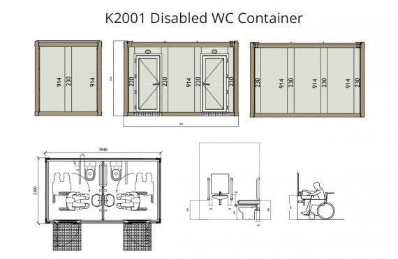 K 2001 Disabled WC Container
