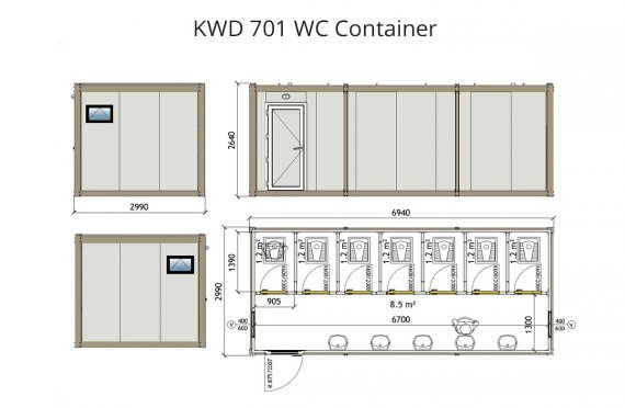 KWD 701 Wc Container