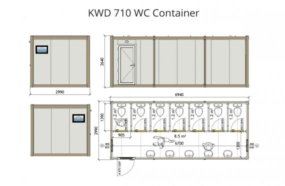 KWD 710 Wc Container