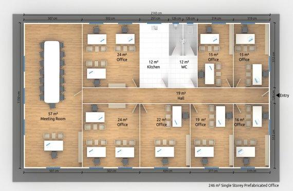 Portable office buildings | Construction | Relocatable