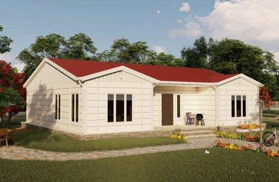 123 m2 Prefabricated House Model