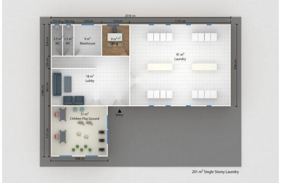 Prefabricated Laundry 201 m²
