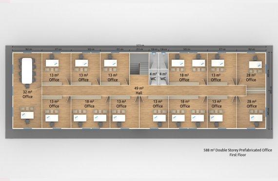 Prefabricated Office 588 m²