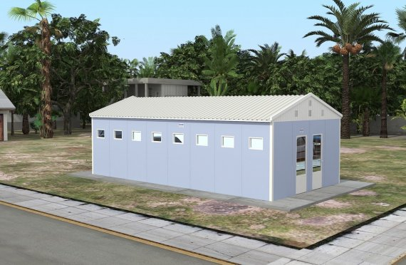 Prefabricated Toilet & Shower Building 52 m²