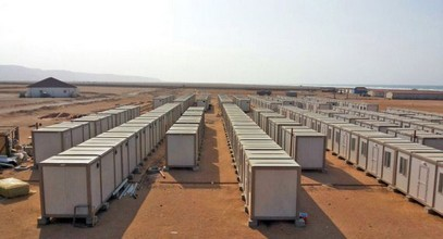 We set up construction sites for gold mine workers in Guinea