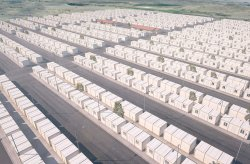 Container housing project for Syrian refugees