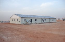 Prefabricated work site complex was completed in Algeria