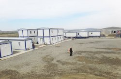 Prefabricated work site buildings for European gas pipeline extension project from Karmod