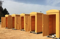 Portable polythene toilets